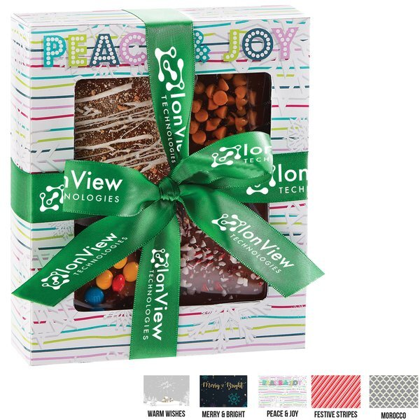 Chocolate Covered Gourmet Treats in a Square Gift Box