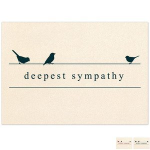 Bulk holiday greeting cards health promotions now deepest sympathy birds note card m4hsunfo