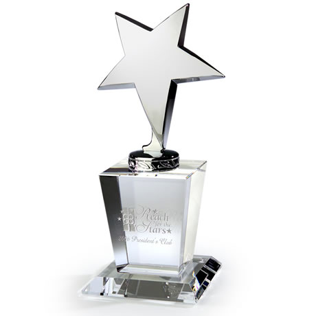 North Star Silver & Crystal Award, 7-1/2""