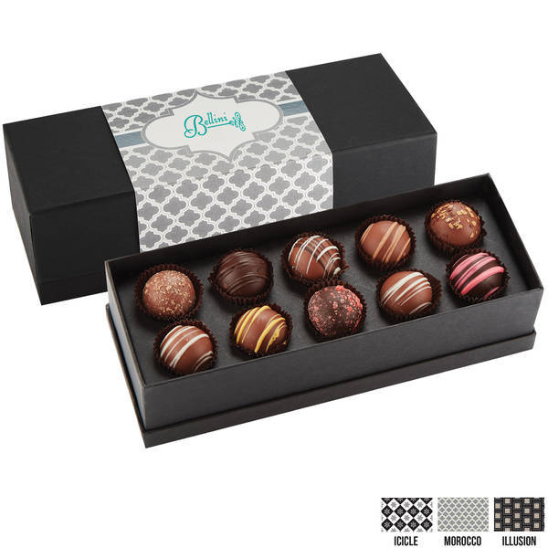 Decadent 10 Piece Truffle Box, Full Color Imprint