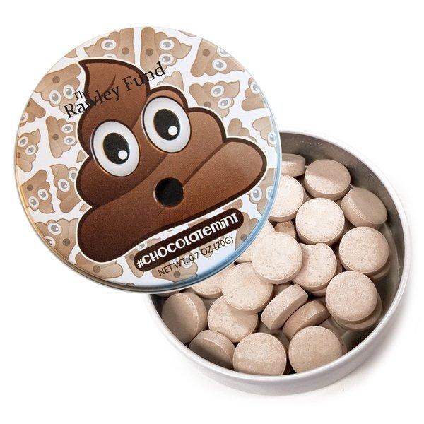 Poo Emoji Tin with Chocolate Mints