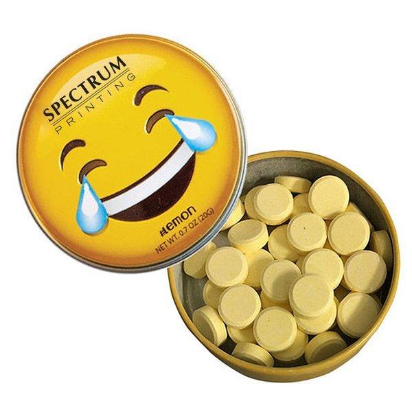 Emoji Laughing Tin with Lemon Mints