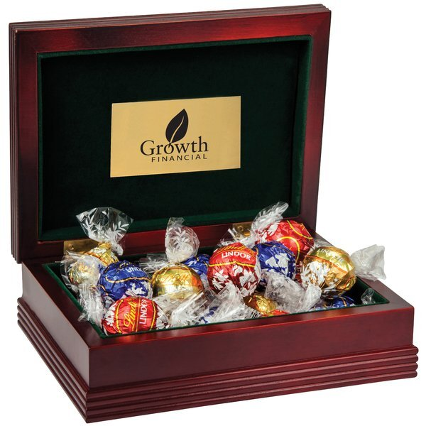 Deluxe Wood Box w/ Lindt® Chocolate Truffles