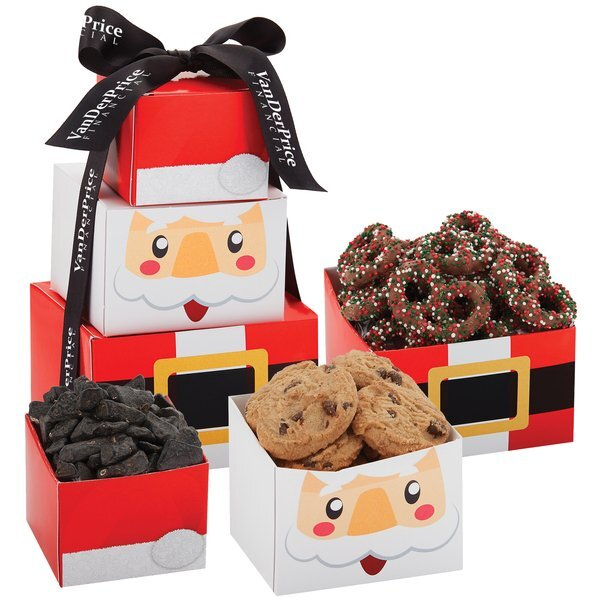 Santa Claus Tower of Holiday Treats