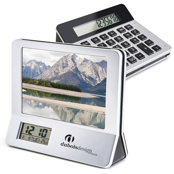 Desktop Calculator Picture Frame Combo