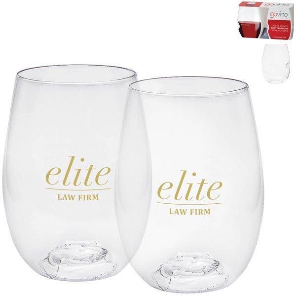 Dishwasher Safe Govino® Wine Glass 2 Pack, 16oz.