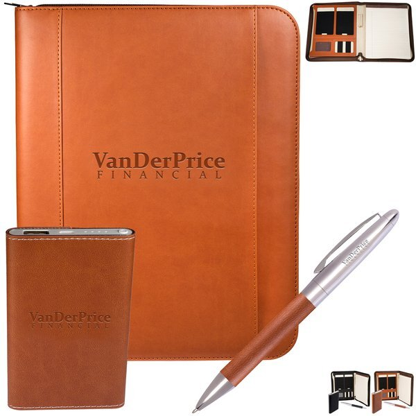 Tuscany™ Padfolio, Power Bank and Pen Gift Set, 4000mAh