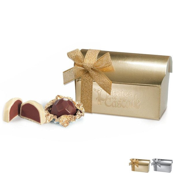 Treasure Chest Belgian Chocolate Truffle Gift Box, 2 Pcs