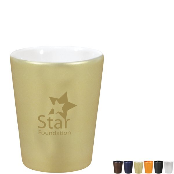 Precious Metal Ceramic Shot Glass, 2oz.