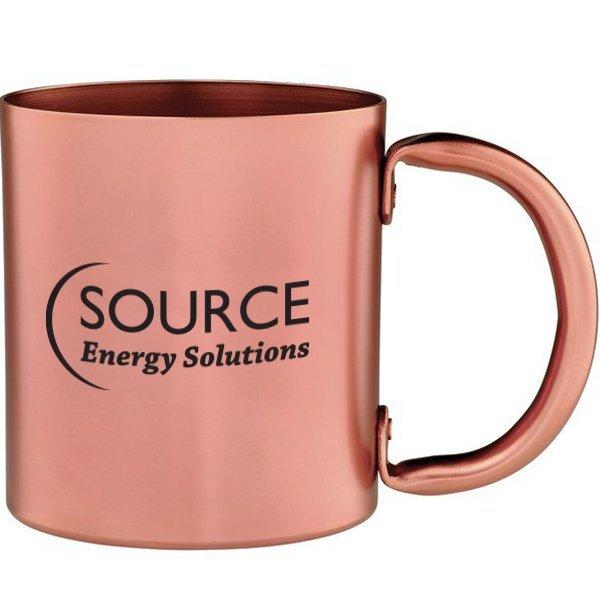 Copper Retro Mug, 14oz.