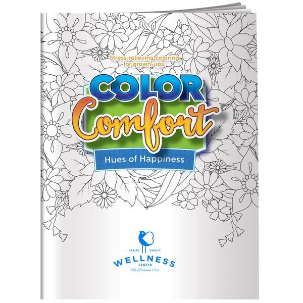 Color Comfort Flowers Theme Adult Coloring Book