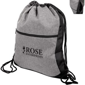 Trilogy Two-Tone Polyester Drawstring Backpack