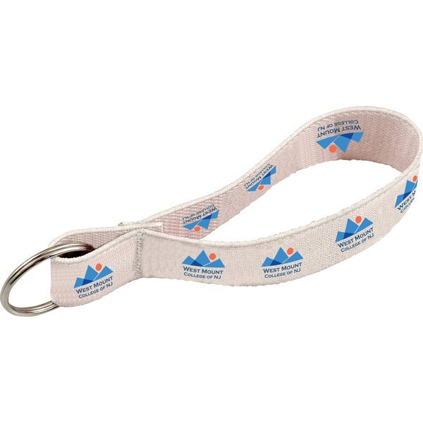 Full Color Elastic Wristband with Key Ring, 1""