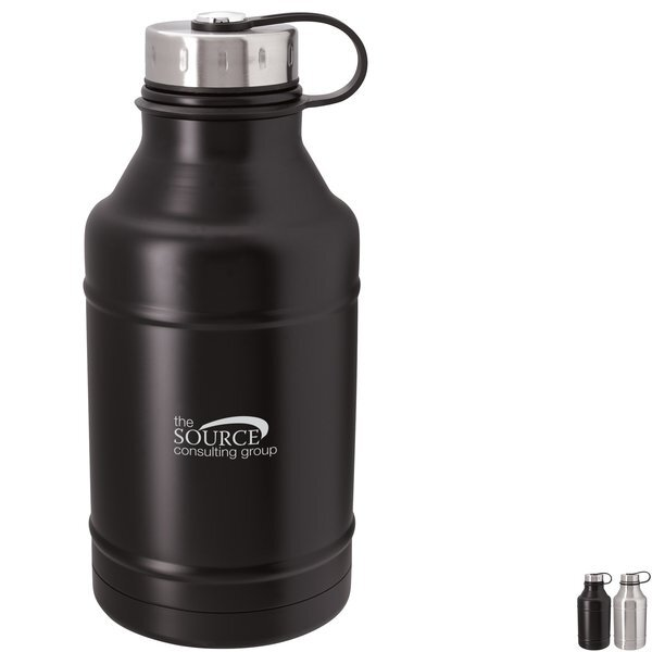 Vacuum Growler w/ Attached Lid, 64oz.