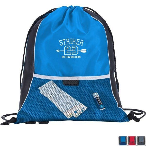 Center Lane 210D Drawstring Backpack