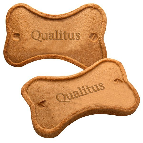 Bone Shaped Cookie for Dogs, w/ 3D Logo, Individually Wrapped