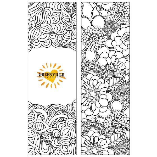 Coloring Nature Bookmark