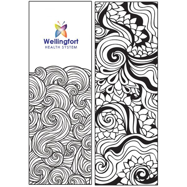 Coloring ZenDoodle Bookmark