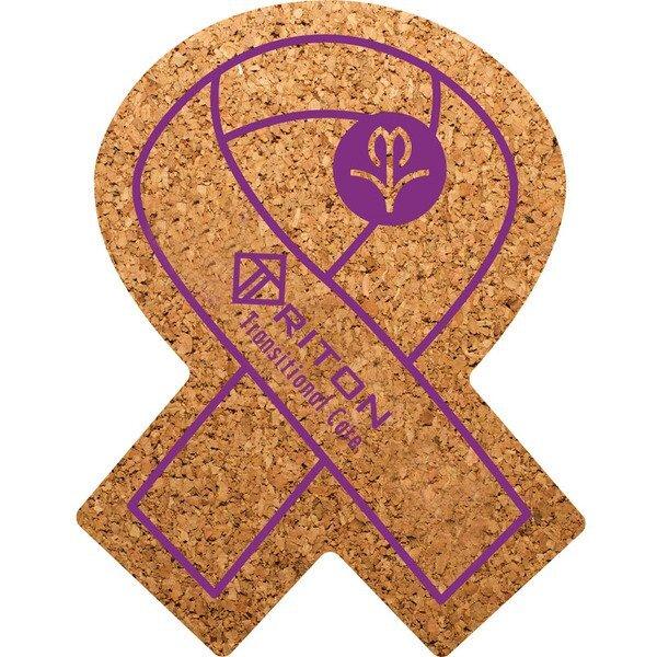 Awareness Ribbon Cork Coaster