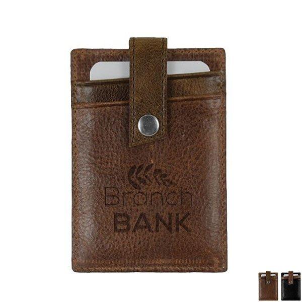 Andrew Philips® Westbridge Two-Tone RFID Leather Money Clip/Card Case