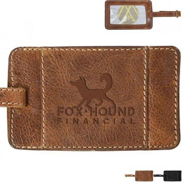 Andrew Philips® Westbridge Leather Luggage Tag