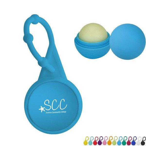 Silicone Carabiner Rubber Lip Balm Ball