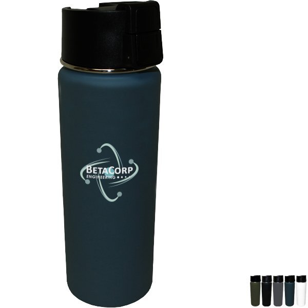 Soft Touch Halcyon™ Sport Bottle, 20oz., Full Color Imprint