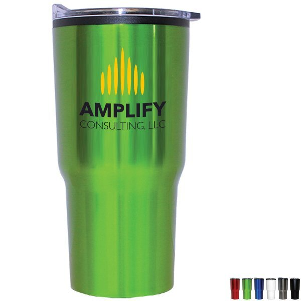 Ares Stainless Steel Tumbler, 20oz., Full Color Imprint