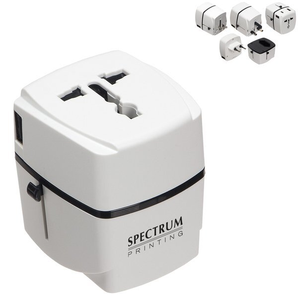 Universal 3-USB Port Traveler Adapter