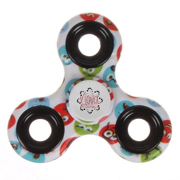 Emoticon Fidget Spinner w/ Full Color Imprint