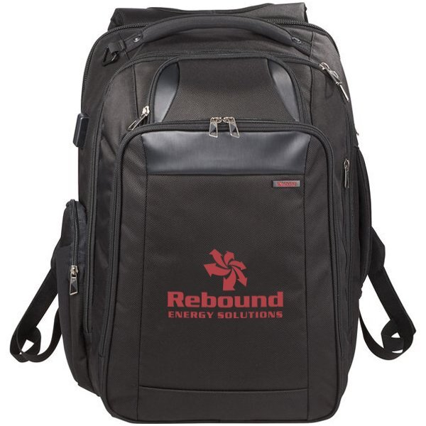 "elleven™ Stow TSA 17"" Computer Polyester Backpack"