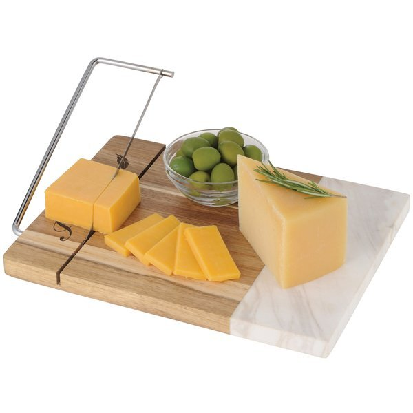 Marble & Acacia Wood Cheese Cutting Board
