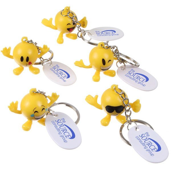 Emoticon Guy Keychain