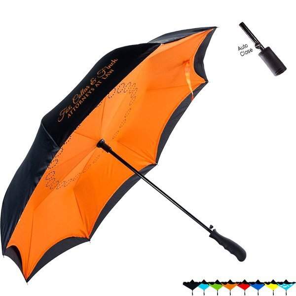 "Rebel Inverted Auto Close Umbrella, 48"" Arc"