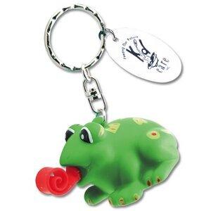 Stress Ball Frog Keytag