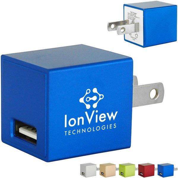 Metallic USB Wall Charger, UL Listed