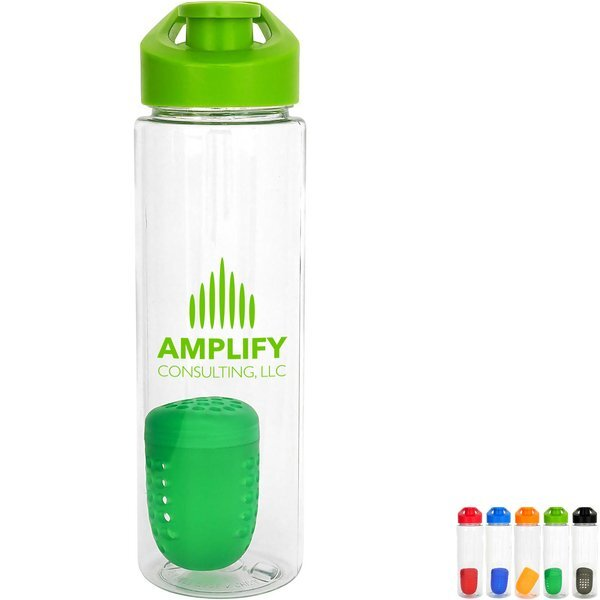 Easy Pour Colorful Bottle w/ Floating Infuser, 24oz.