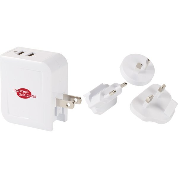 UL Listed Fray Universal Adapter w/ Dual Ports