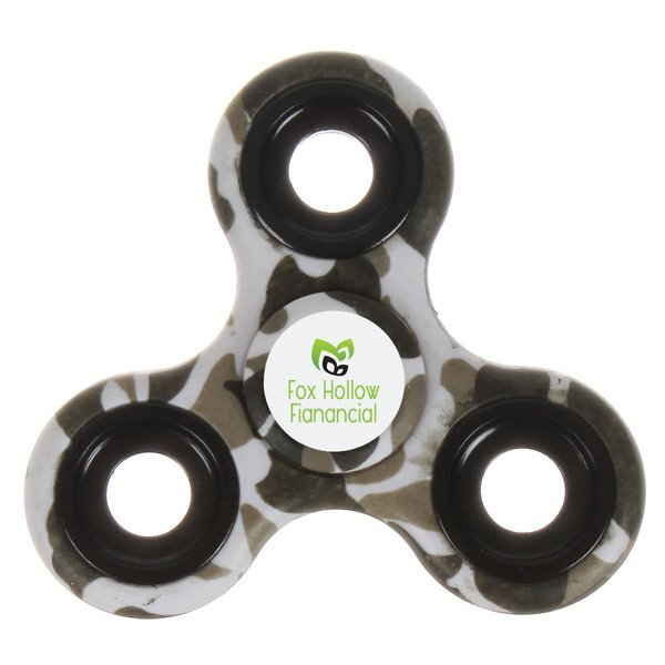 Camouflage Fidget Spinner w/ Full Color Imprint