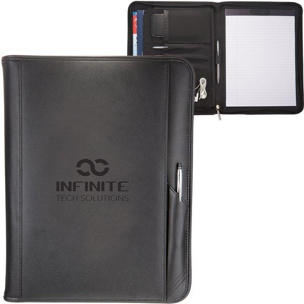 Cross® Classic Leather Zippered Padfolio & Pen Gift Set