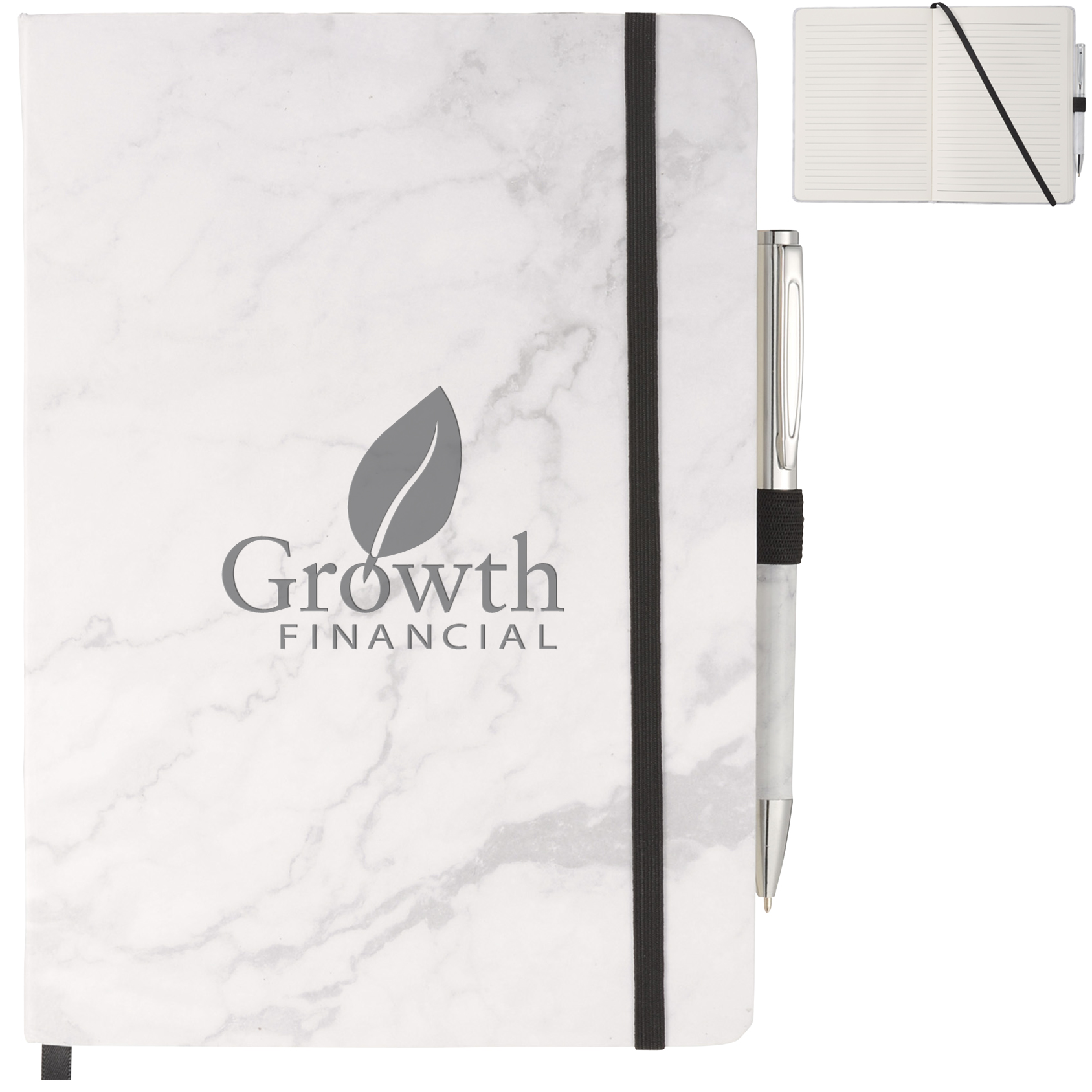 Marble Hard Bound JournalBook™ & Pen Gift Set