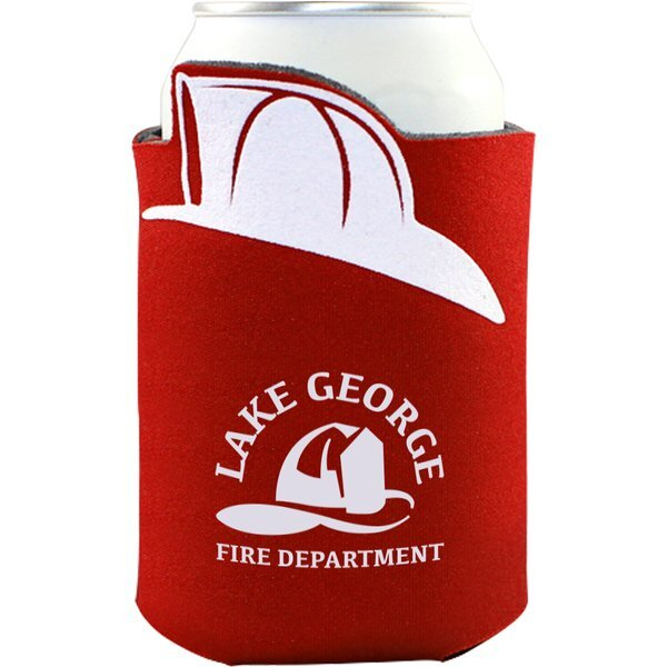 Fire Hat Crazy Frio Can Cooler
