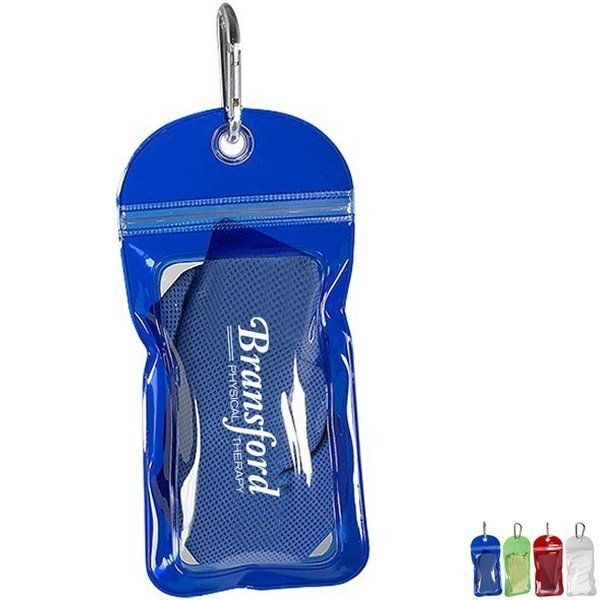 Cooling Towel in Carabiner Pouch
