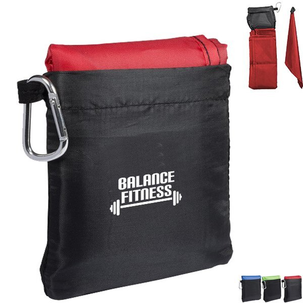 Foldable Picnic Blanket in a Pouch w/Carabiner Clip