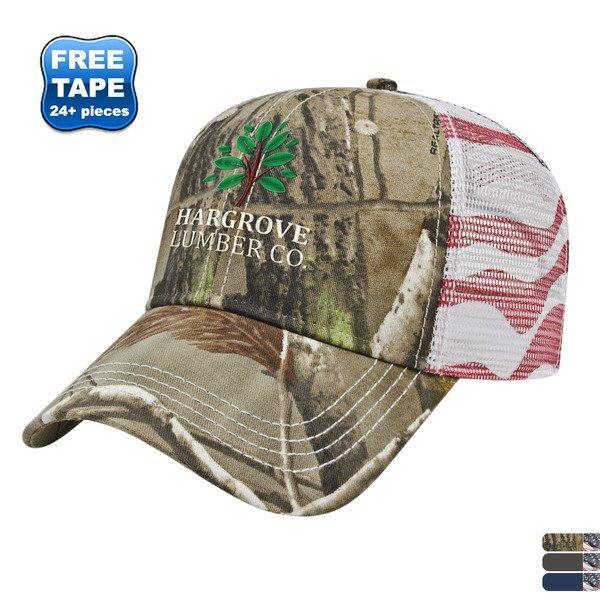 Classic Constructed Flag Mesh Back Cap