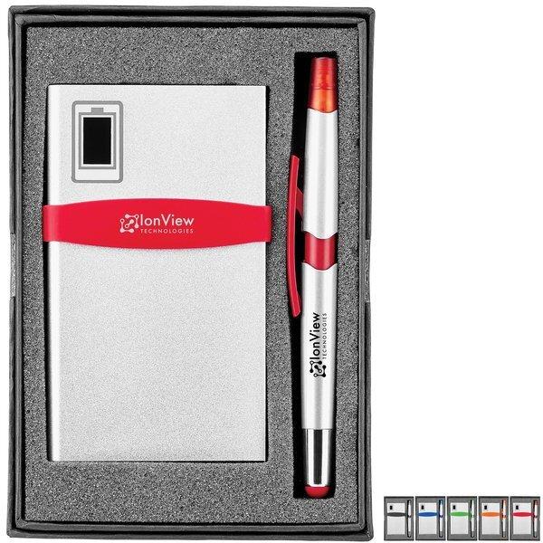 Commander Silver Power Bank & Nori 3-in-1 Pen Gift Set