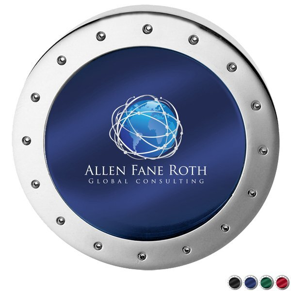 Two-Piece Silver Magnifier Paper Weight