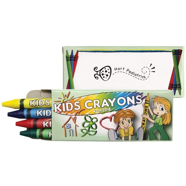 Washable Crayons, 4-Pack