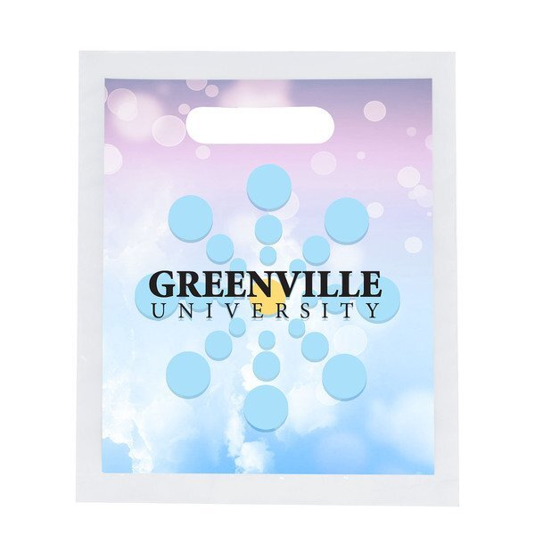 "Digital Full Color Die Cut Plastic Bag, 7.5"" x 9"""