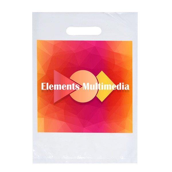 """Digital Full Color Die Cut Plastic Bag, 9"""" x 13"""""""